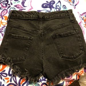 Pants - Black jean shorts